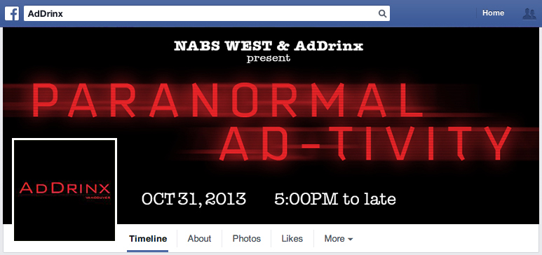 Paranormal Ad-tivity - Facebook Profile Cover