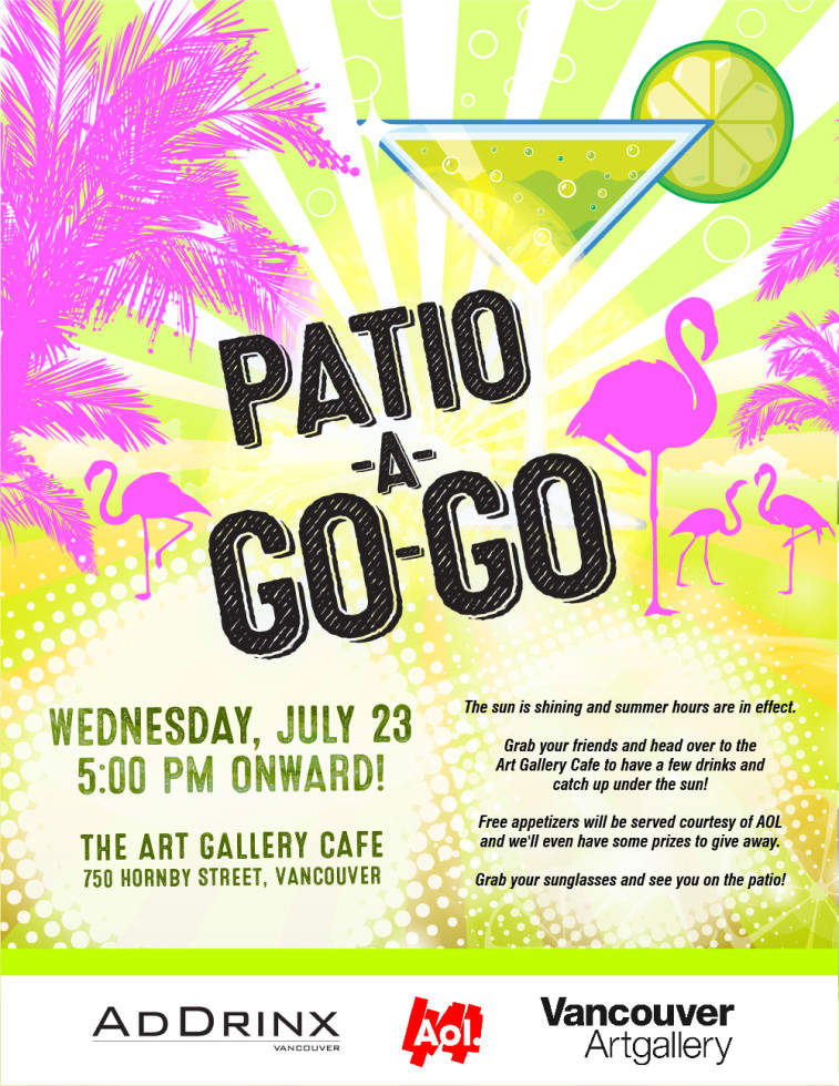 AdDrinx Patio-A-Go-Go Event Poster
