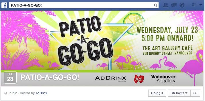 AdDrinx Patio-A-Go-Go Facebook Event Photo