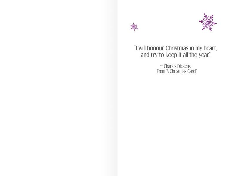 Purple Pirate Christmas Card - Inside