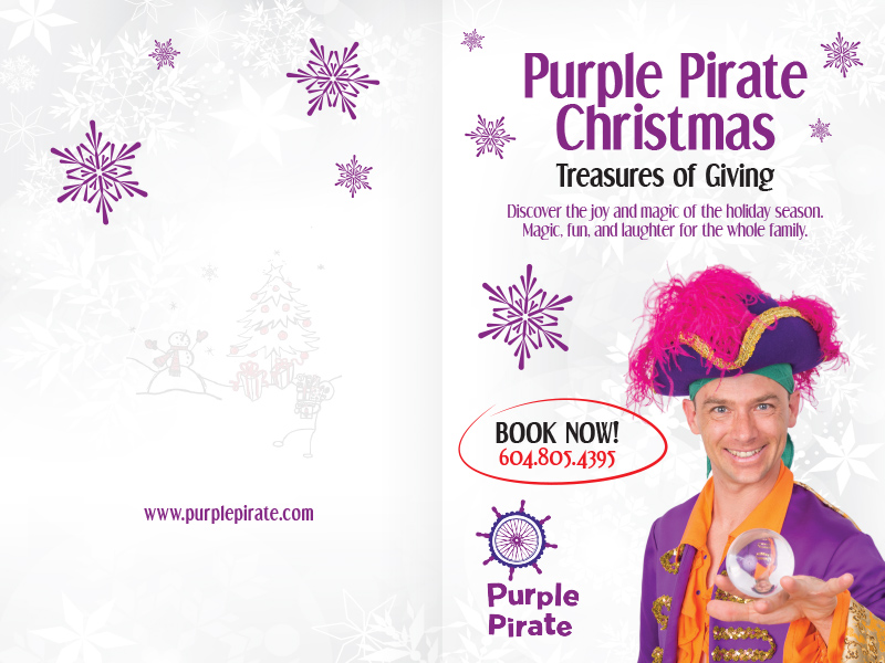 Purple Pirate Christmas Card - Outside