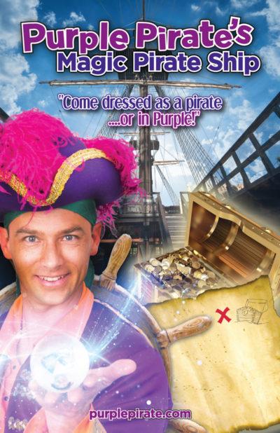Purple Pirate's Magic Pirate Ship Poster 11x17