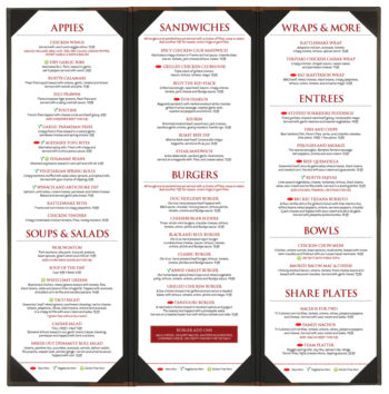 Rusty's Pub - Food Menu 2016
