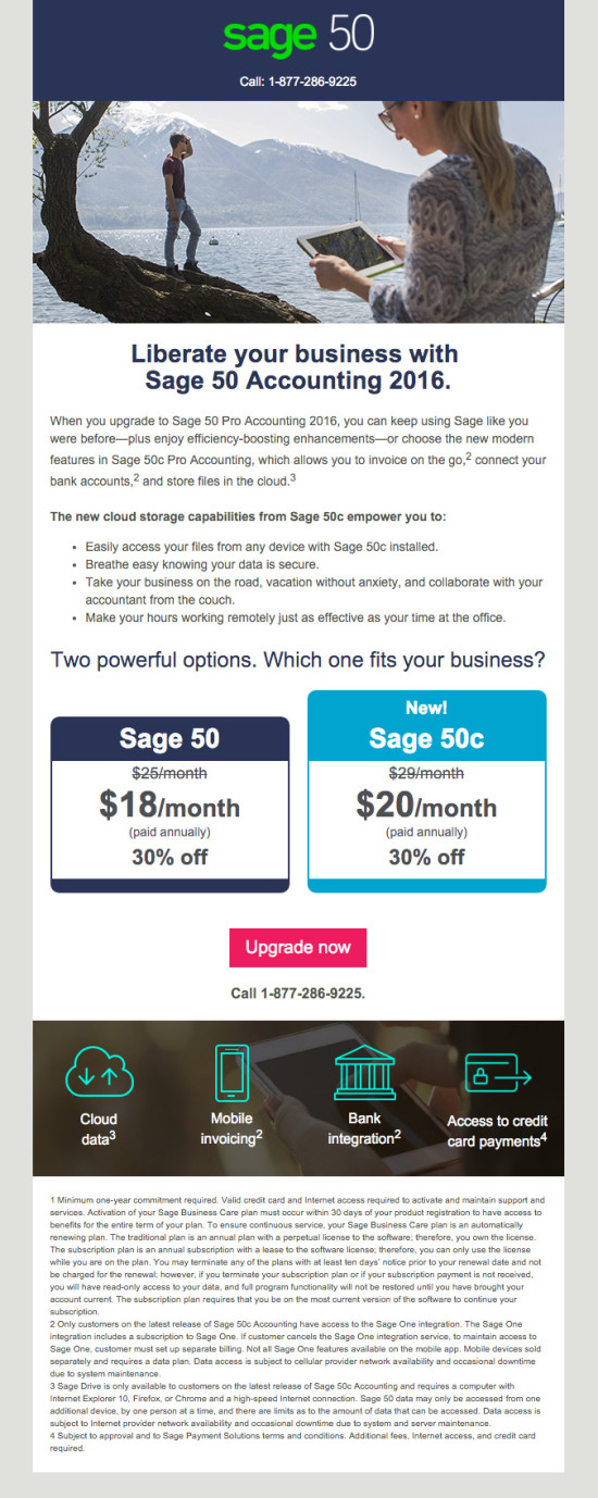 Sage 50c Upgrade Launch Promo Email 4