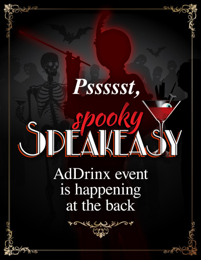 Spooky Speakeasy Sign - Event Location