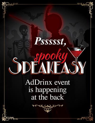 Spooky Speakeasy Sign - Event Location