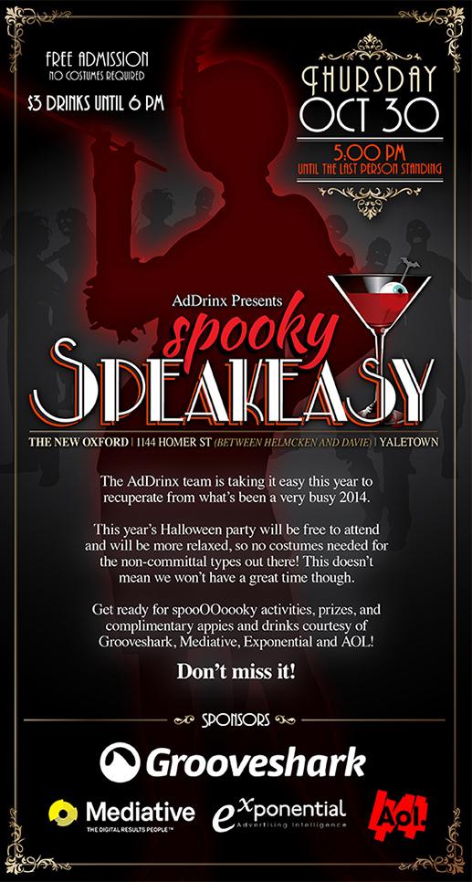 Spooky Speakeasy - Evite
