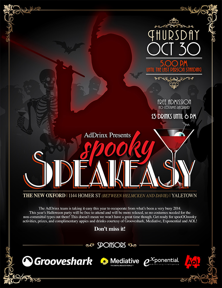 Spooky Speakeasy - Promotional Poster
