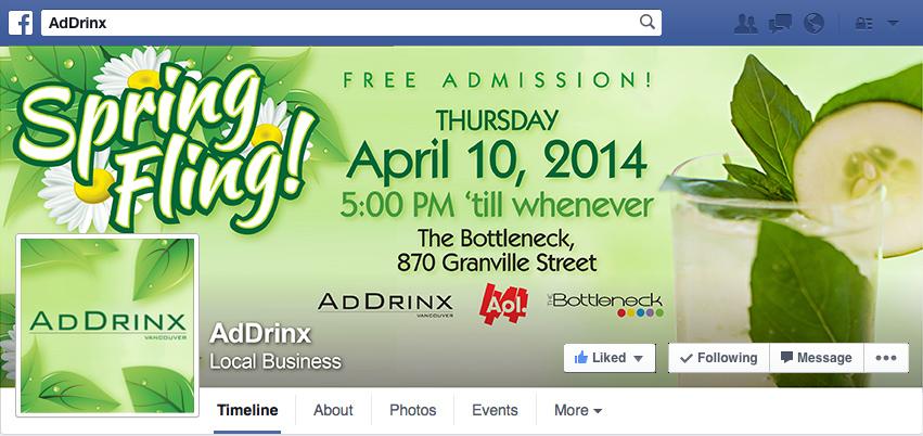 AdDrinx Spring Fling 2014 - Facebook Cover Photo