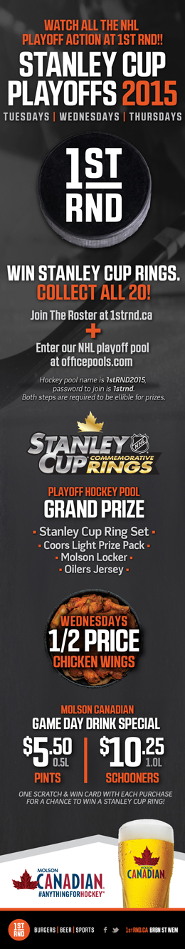 1st RND Stanley Cup Playoffs 2015 MailChimp Email 260px