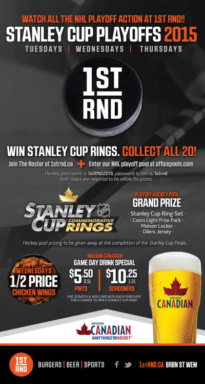 1st RND Stanley Cup Playoffs 2015 MailChimp Email 600px