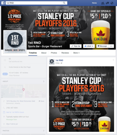 Stanley Cup Playoffs 2016 - Facebook Graphics