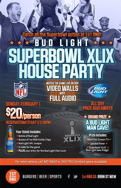 Superbowl XLIX Poster 11x17