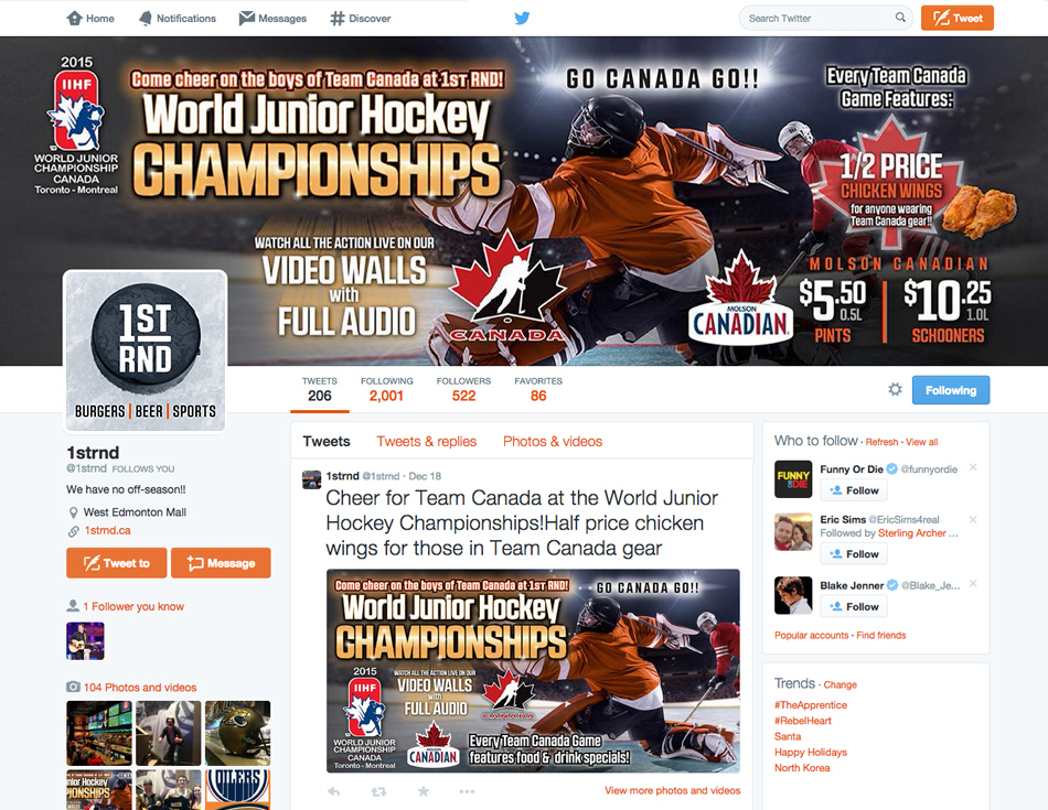 1st RND WHJC 2015 Event - Twitter Profile Cover Photo & News Feed Banner
